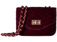 Jessica Mcclintock Elaine Velvet Shoulder Bag Wine Shoulder Handbags Burgundy
