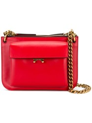 Marni Bi Colour Cross Body Bag Red