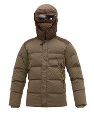C.P. Company Goggle Hood Down Filled Technical Hooded Jacket Green