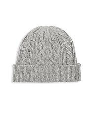 Saks Fifth Avenue Cable Beanie Grey