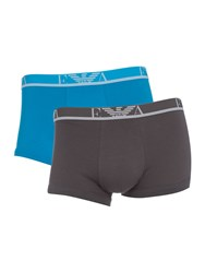 Armani Jeans 2 Pack Ea Waistband Boxer Turquoise