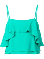 Apiece Apart 'Pedernal' Slip Blouse Green