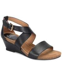 Sofft Vita Wedge Sandals Women's Shoes Black