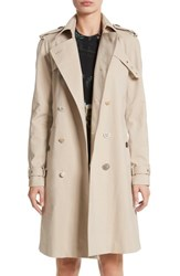 Adam By Adam Lippes 'S Embellished Button Trench Coat Khaki