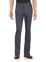 Perry Ellis Textured Straight Fit Pants India Ink
