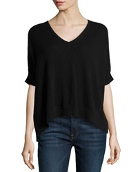 Christopher Fischer Cashmere Ruana Short Sleeve Poncho Black