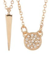Melinda Maria Cade Cz Pave And Katrina Spike Necklace Set White