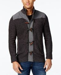 Retrofit Men's Toggle Stand Colar Cardigan Black