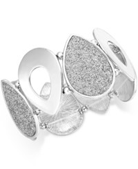Styleandco. Style And Co. Silver Tone Glitter Teardrop Stretch Bracelet Only At Macy's
