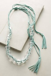 Anthropologie Beaded Lucite Necklace Mint