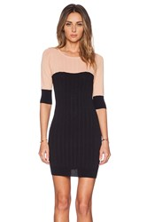 For Love And Lemons Colorblock Mini Dress Black