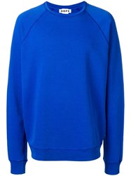 Hope Loose Fitted Sweatshirt Blue
