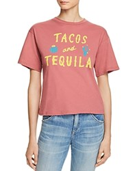 Michelle By Comune Tacos And Tequila Graphic Tee Mulberry