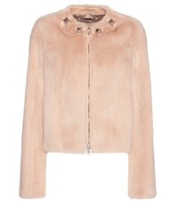 Givenchy Embellished Mink Fur Jacket Pink