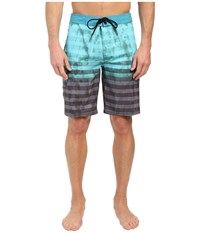 Tavik Road Boardshorts Harbor Green Men's Swimwear Blue
