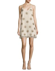 Ark And Co Floral Beaded Slip Dress Pink