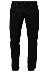 Nudie Jeans Steady Eddie Straight Leg Jeans Organic Dry Black Black Denim
