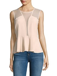Sandro Capsule Soir Sleeveless Paneled Top Powder