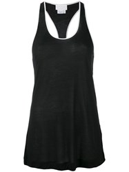 Dkny Tank With Contrast Piping Black