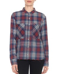 Joe's Jeans Aislin Cotton Long Sleeve Shirt Red