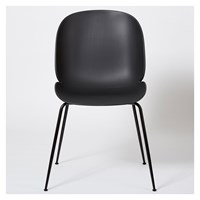 Gubi Beetle Dining Chair Un Upholstered Black