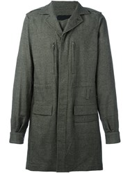 Haider Ackermann Single Breasted Coat Grey