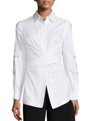 Yigal Azrouel Oxford Wrap Shirt Optic White