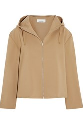 Studio Nicholson Jean Hooded Stretch Wool Jacket Sand