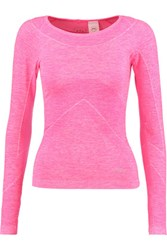 Athletic Propulsion Labs Neon Marled Stretch Knit Top Fuchsia