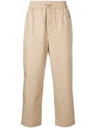 Wood Wood Cropped Trousers Neutrals