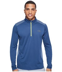 The North Face Versitas 1 4 Zip Shady Blue Men's Clothing