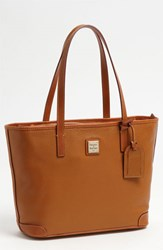 Dooney And Bourke 'Charleston Pebble Grain Collection' Water Resistant Tumbled Leather Shopper Brown Caramel