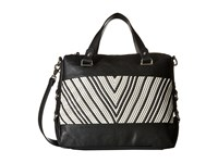 French Connection Charlie Woven Satchel Black White Satchel Handbags
