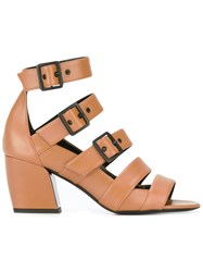 Pierre Hardy 'Parallele' Sandals Women Leather 38 Brown