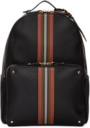 Valentino Black Rockstud Striped Backpack