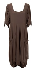 Feverfish Two Pocket Jersey Tunic Brown