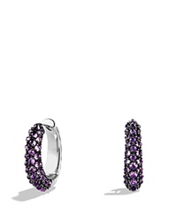 David Yurman Hoop Earrings With Amethyst