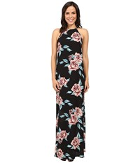 Show Me Your Mumu Flirtini Maxi Dress Flower Hour Women's Dress Black