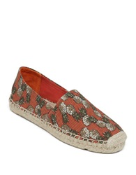 Lucky Brand Tashii Printed Espadrille Flats Red