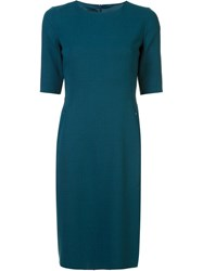 Akris Classic Fitted Dress Green