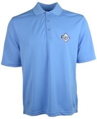 Antigua Men's Short Sleeve Tampa Bay Rays Pique Xtra Lite Polo Lightblue