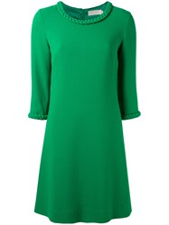 Goat Plaited Detail Tunic Dress Women Polyester Acetate Wool 6 Green