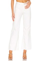 Free People High Rise Straight Flare White