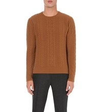 Boglioli Chunky Cable Knit Jumper Camel