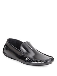 Kenneth Cole Under Go Slip On Leather Loafers Black