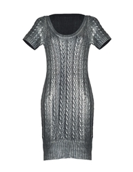 Aftershock Lakini Cable Knit Dress Silver