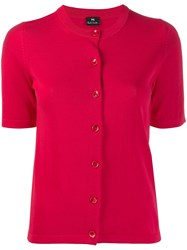 Paul Smith Ps Short Sleeved Cardigan Pink