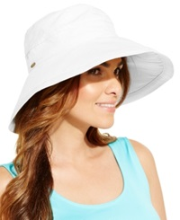 Dorfman Pacific Cotton Big Brim Sun Hat White