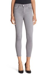 L'agence Women's High Rise Skinny Ankle Jeans Gris