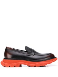 Alexander Mcqueen Chunky Sole Loafers Brown